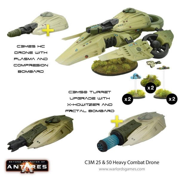 C3M 25 & 50 Heavy Combat Drone - GoA Bundle