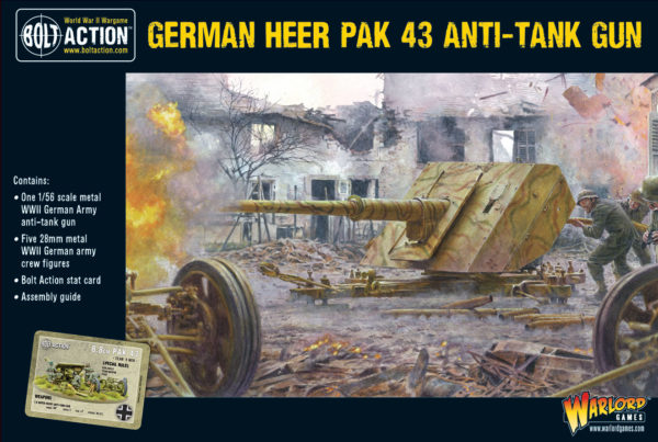 Pak 43 anti-tank gun with its 5 man crew box set