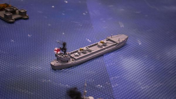 Royal Navy Landing Craft Gun with Royal Marine Gunners