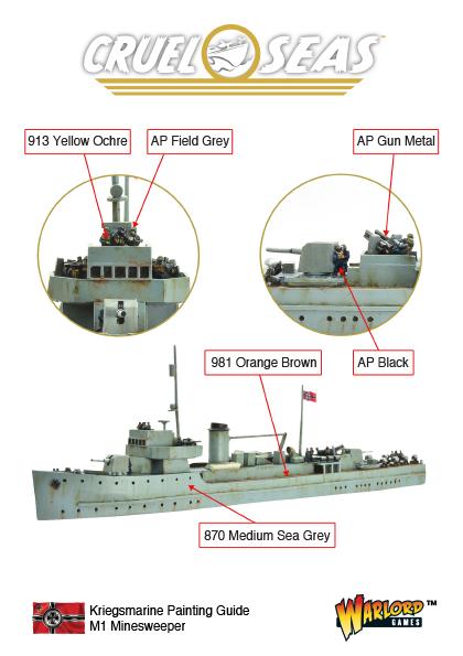 Cruel Seas Kriegsmarine M1 Minesweeper Painting Guide