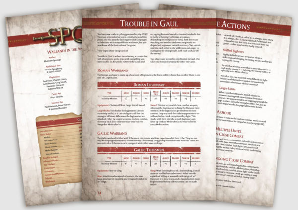 Pages from the SPQR Rulebook