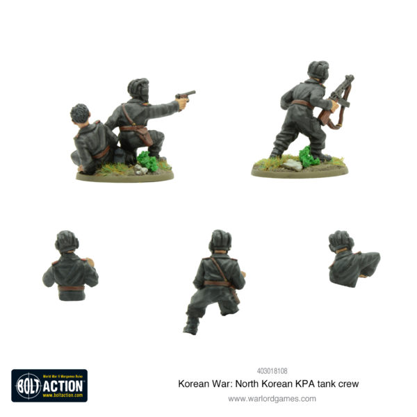 North Korean KPA tank crew Rear