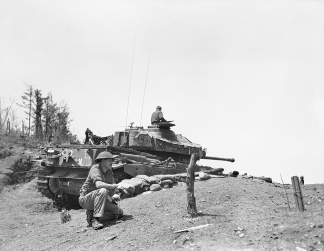 British Centurion Tank in Korea May 1953