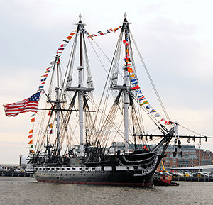 USS Constitution on her 213th birthday, 21 October 2010