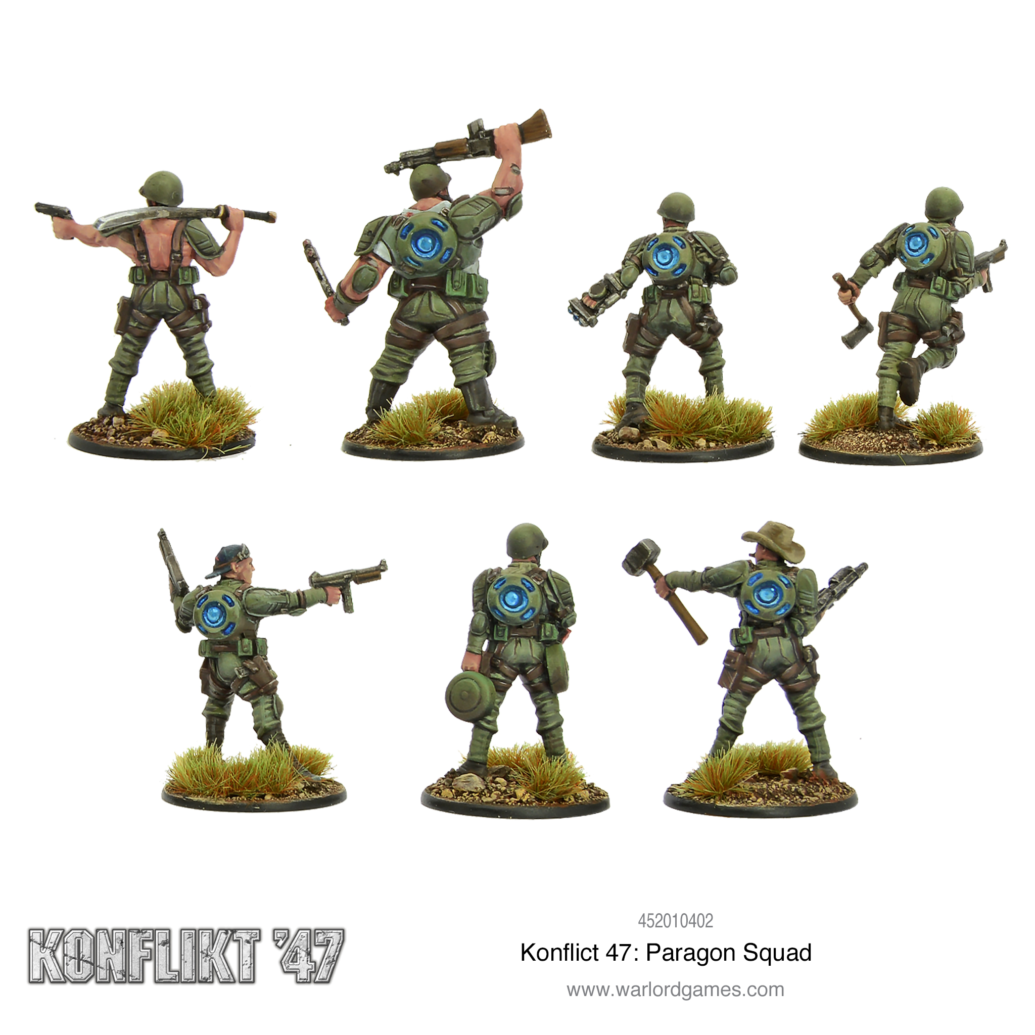 Konflikt' 47 Paragon Squad Rear View