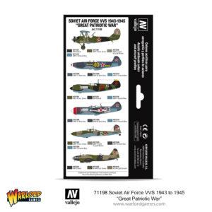"71198 Soviet Air Force VVS 1943 to 1945 ""Great Patriotic War"" - Vallejo boxed paint set 2"