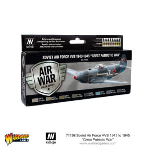 "71198 Soviet Air Force VVS 1943 to 1945 ""Great Patriotic War"" - Vallejo boxed paint set"