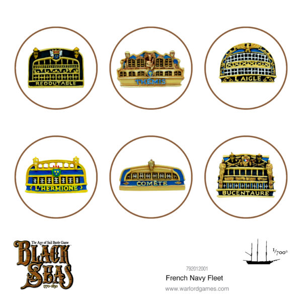 Black Seas: French Navy Fleet (1770-1830) Backplates