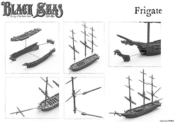 Black Seas Frigate A5 leaflet