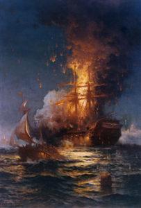 Burning of the USS Philadelphia