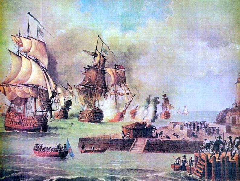 British attack on Cartagena de Indias by Luis Fernández Gordillo.