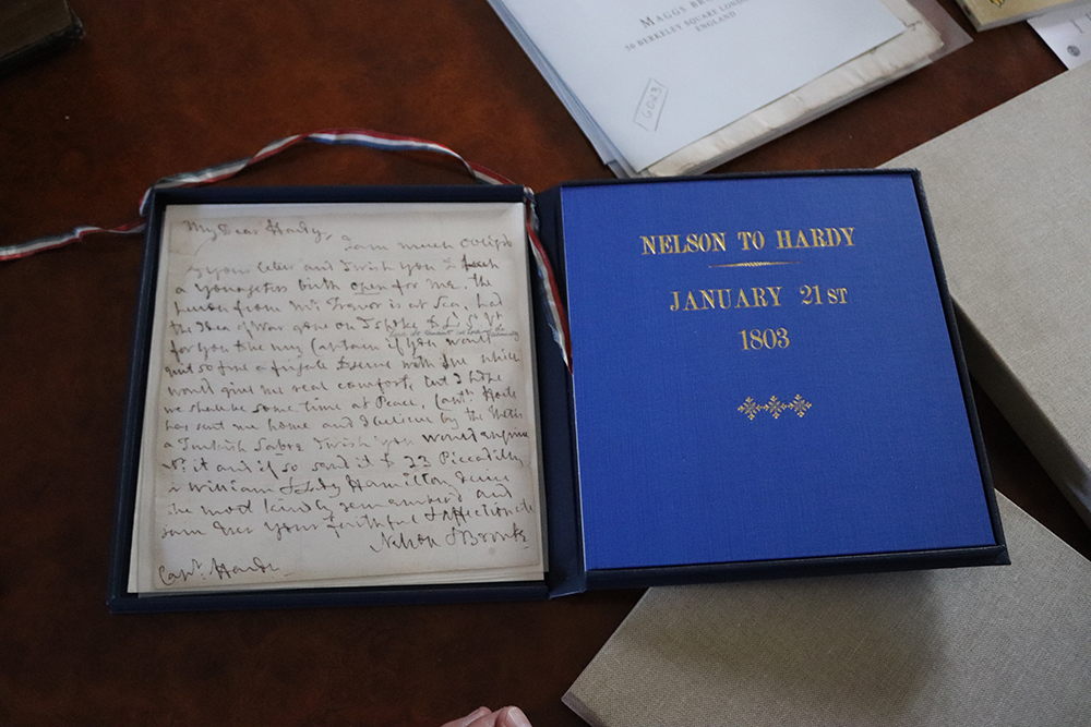 Letter from Nelson to Hardy
