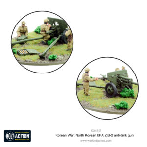 Korean War: North Korean KPA ZIS-2 anti-tank gun