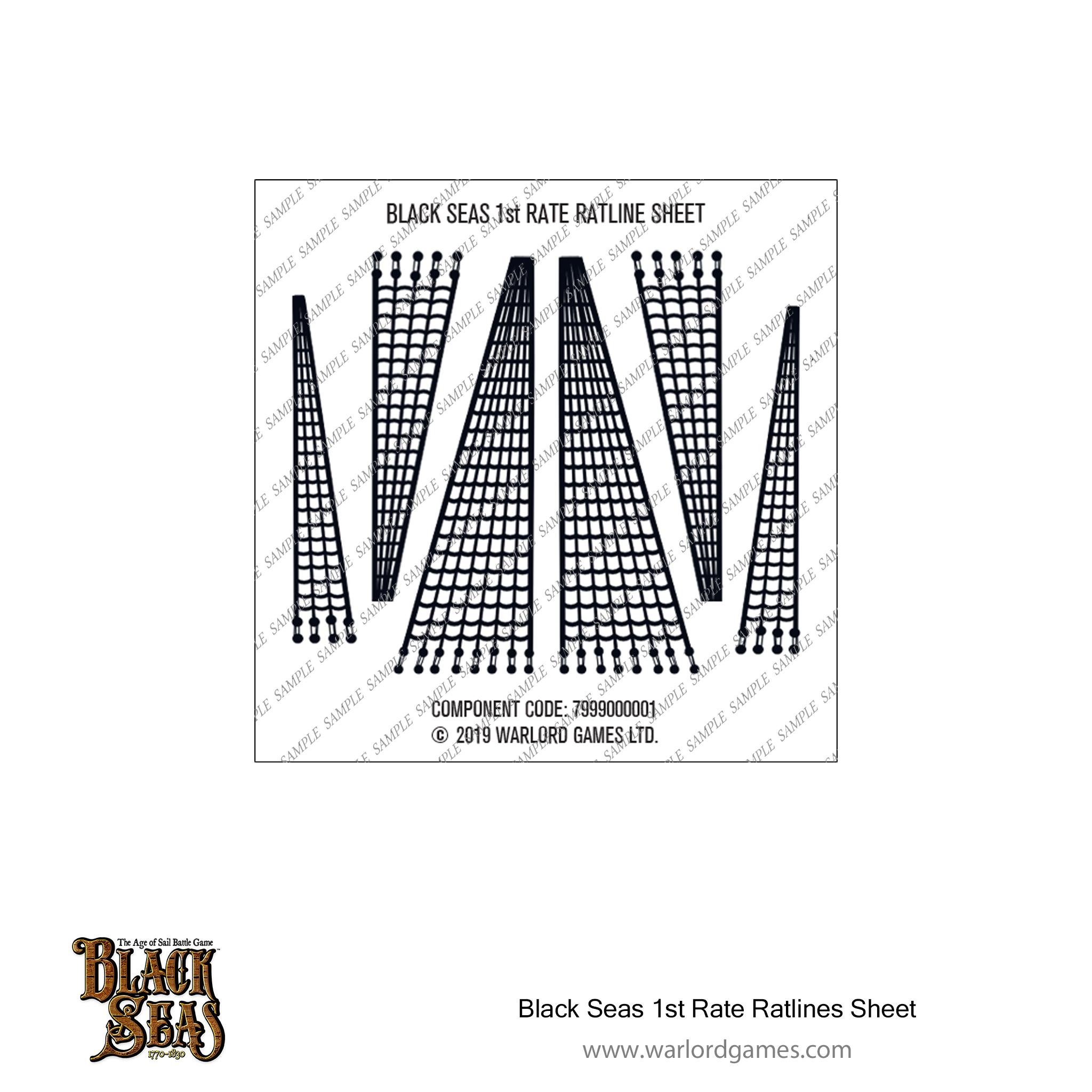Black Seas 1st Rate ratlines sheet