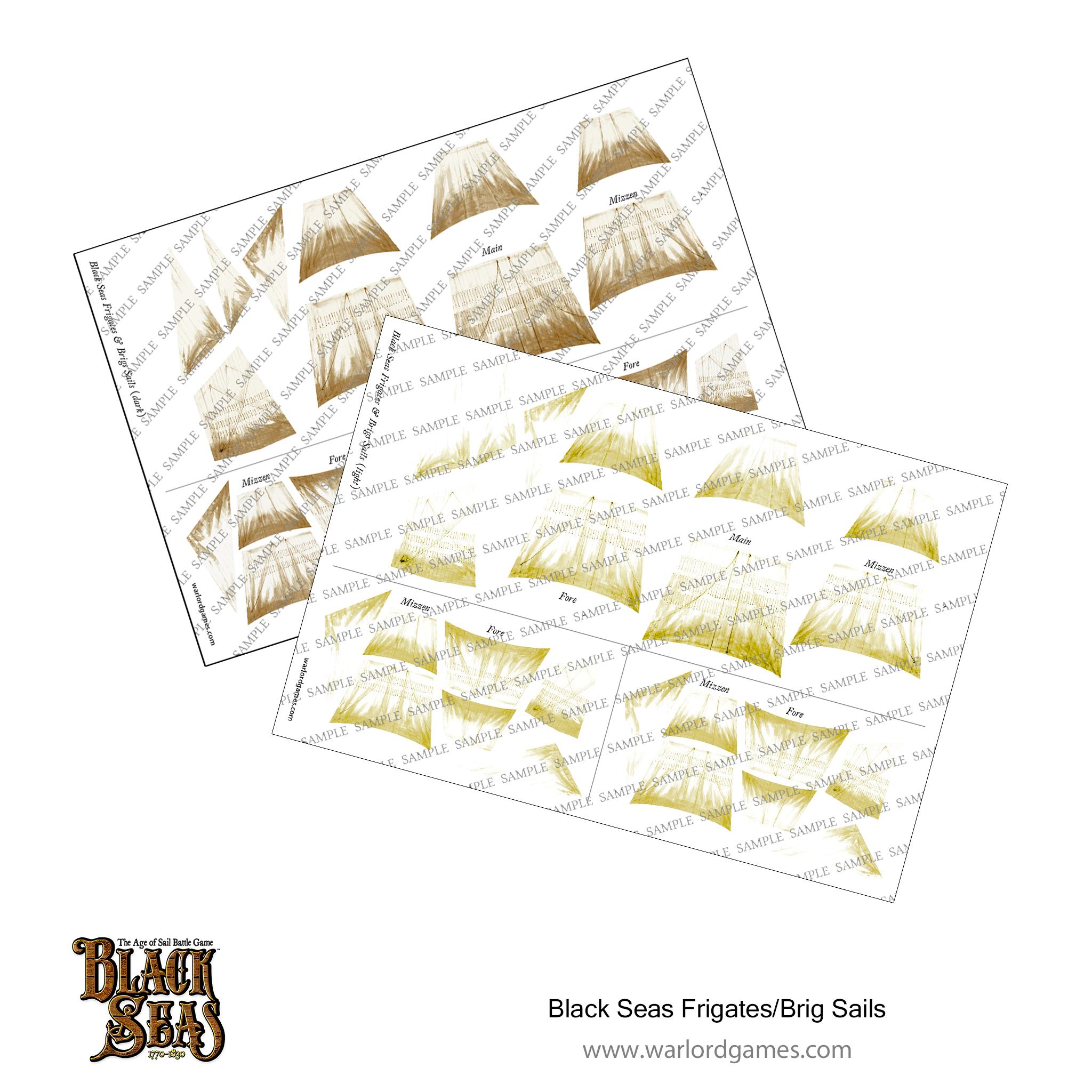 Black Seas Frigate Brig Sails (light + dark)