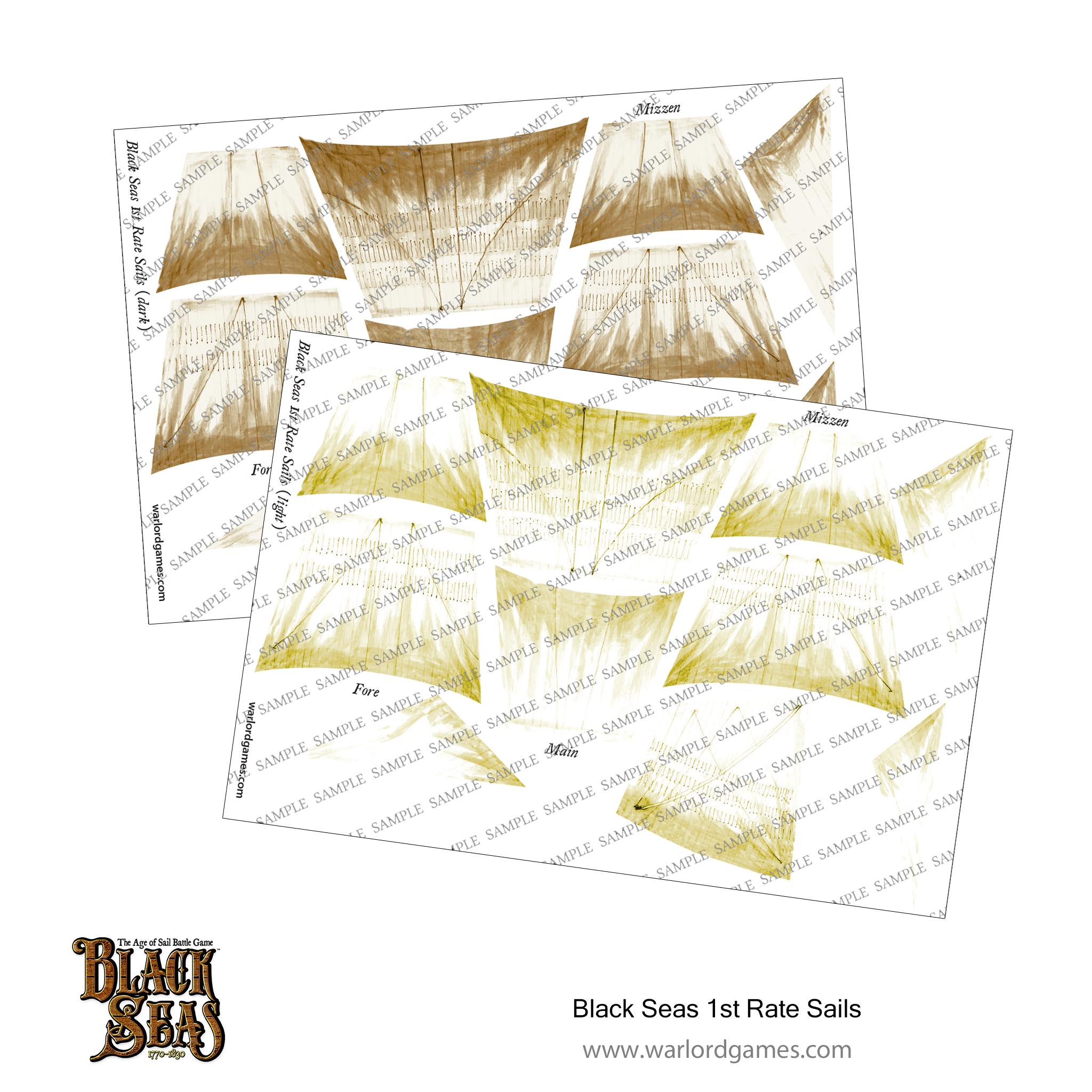 Black Seas 1st rate Sails (light + dark)