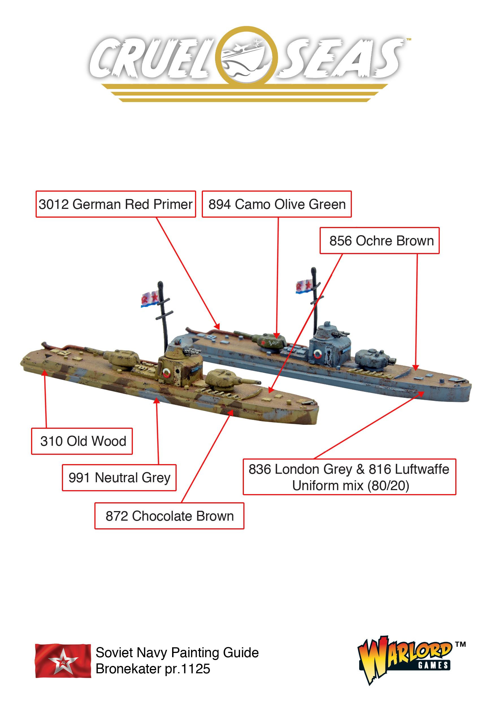 Cruel Seas Soviet Navy Bronekater pr 1125 Painting Guide