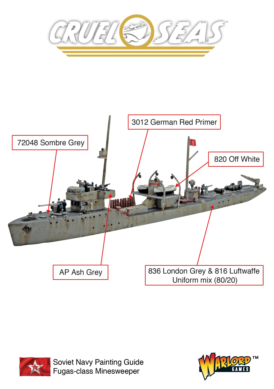 Cruel Seas Soviet Navy Fugas Class Minesweeper Painting Guide