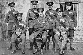 Survivors of the Worcestershire Regiment after the Battle of Gheluvelt 1914.