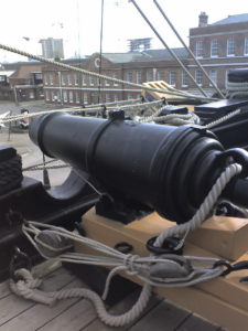 A 68 Pounder Carronade on board HMS Victory