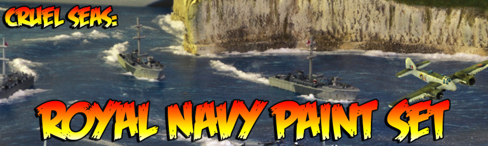 Cruel Seas: Royal Navy Paint Set