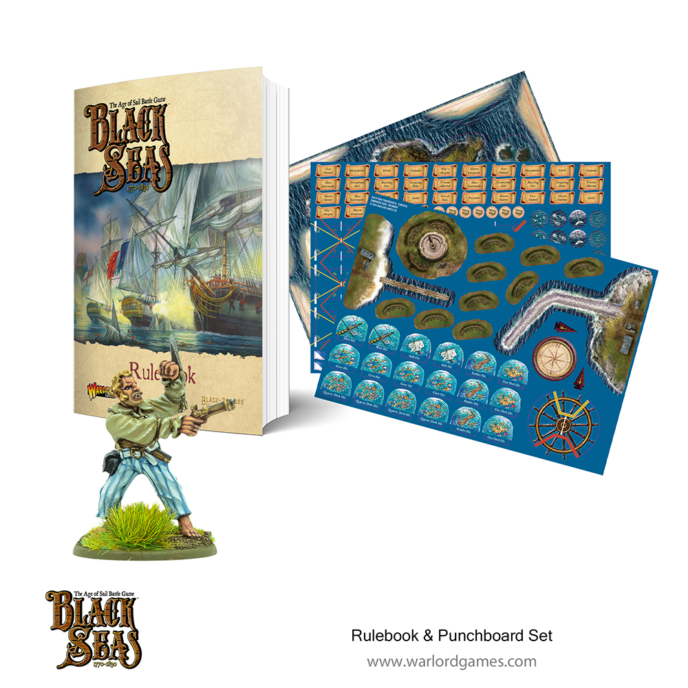 Black Seas Book and punchboard
