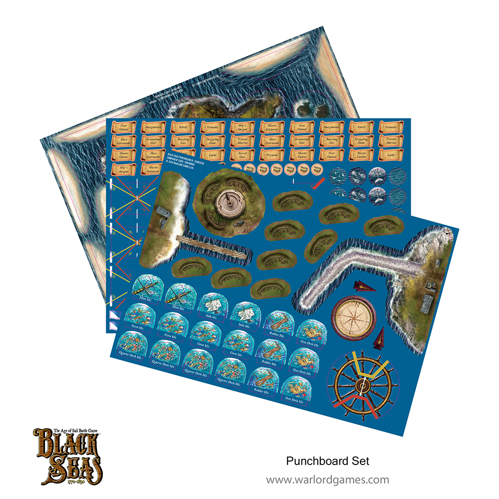 Black Seas Punchboard Set