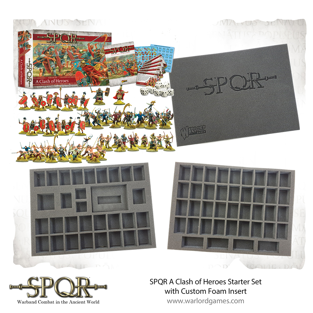 SPQR foam bundle foam tray to carry miniatures