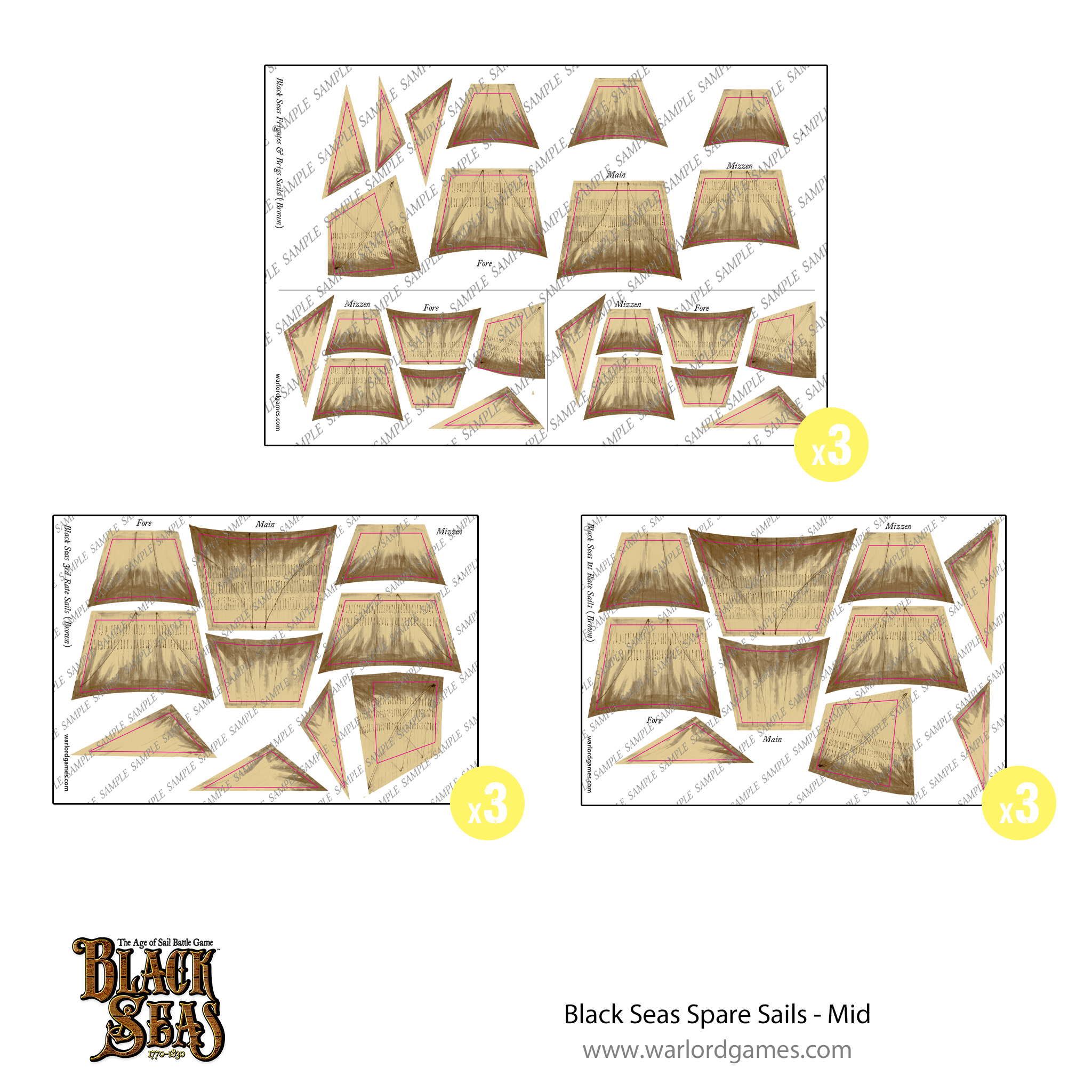 Black Seas Spare sails - mid