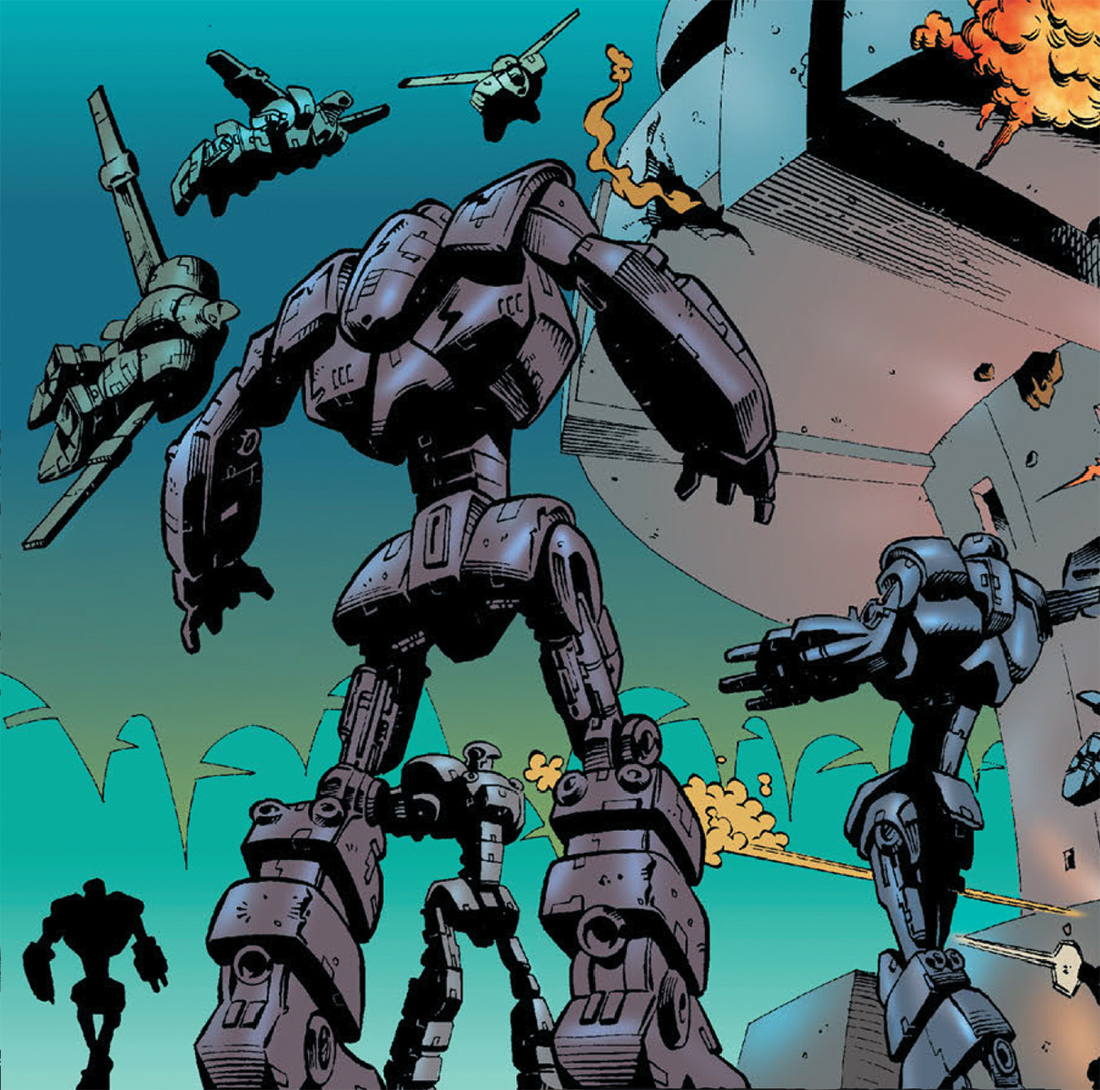 Day 8 Mega-City Robots