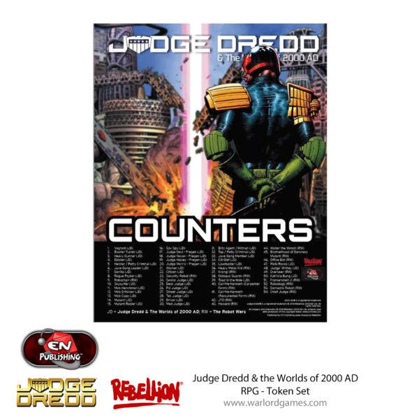 Judge Dredd RPG Token Set