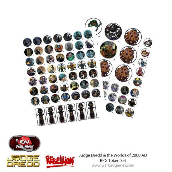 Judge Dredd RPG Token Set 2