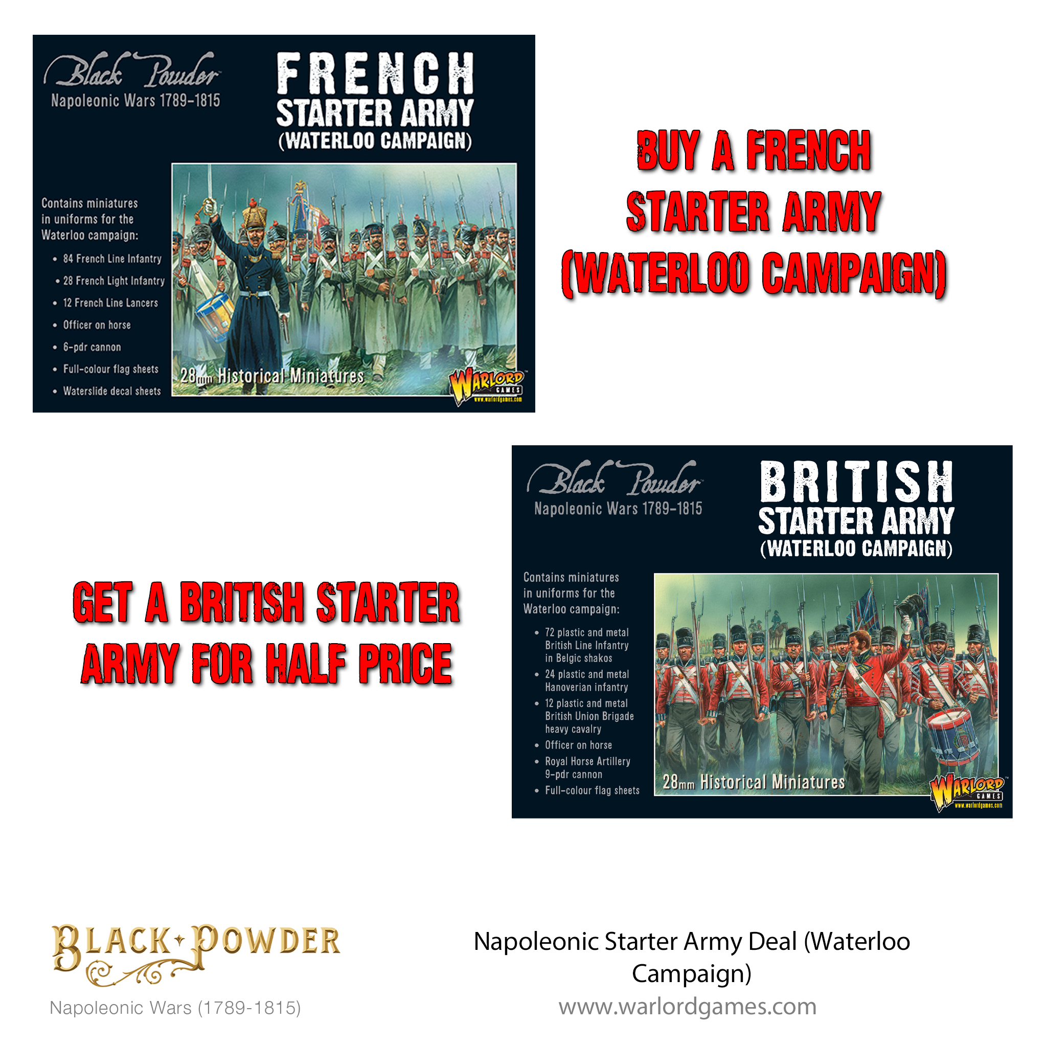 Napoleonic Starter Army Deal (Waterloo Campaign)