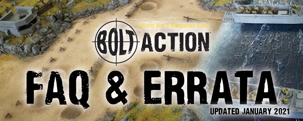 Bolt Action FAQ: January 2021 Update